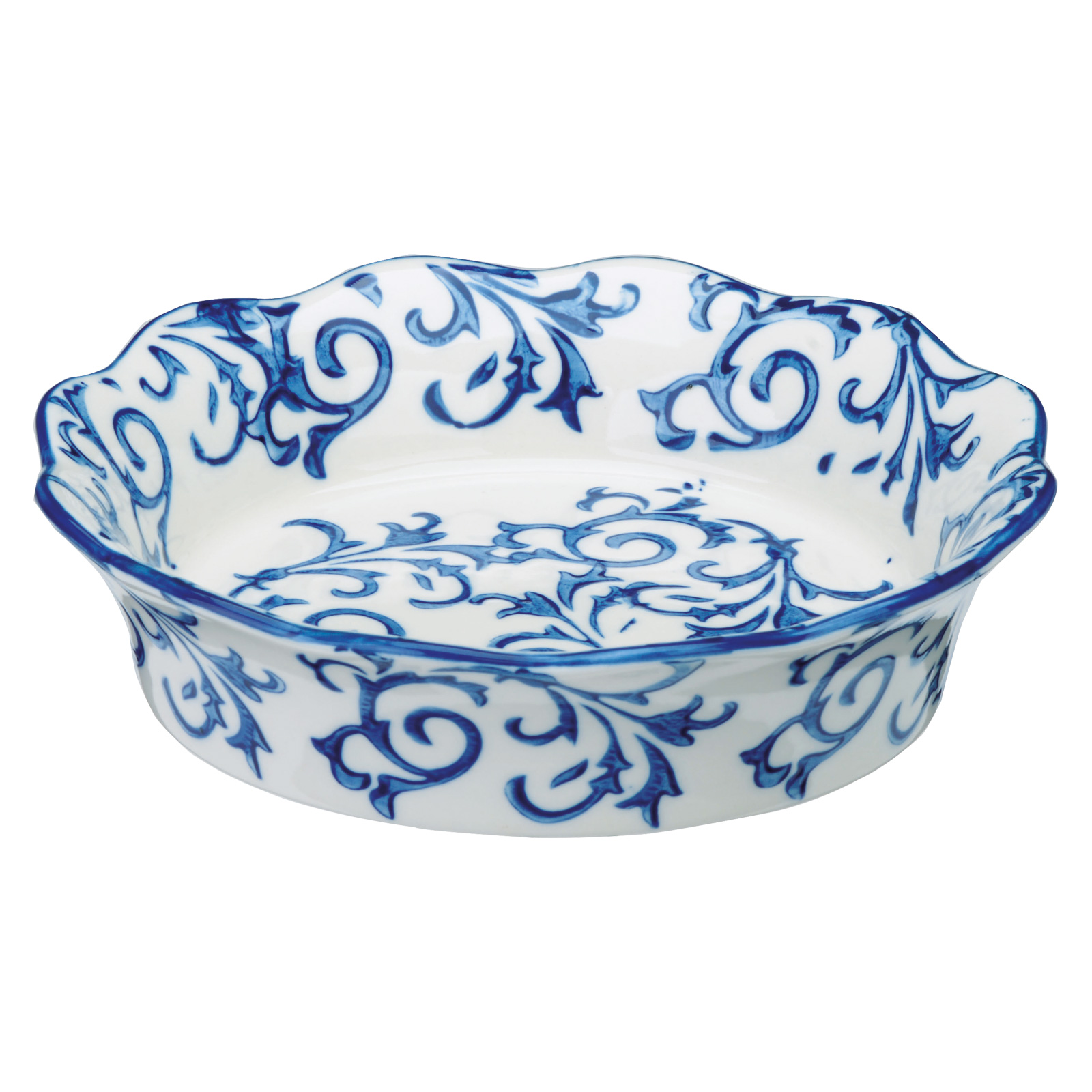 Set of 4 Heritage Individual Pie Dishes Blue by BIA
