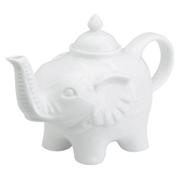 Elephant Teapot White by BIA