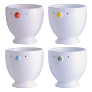 Set of 4 Chick Egg Cups by BIA