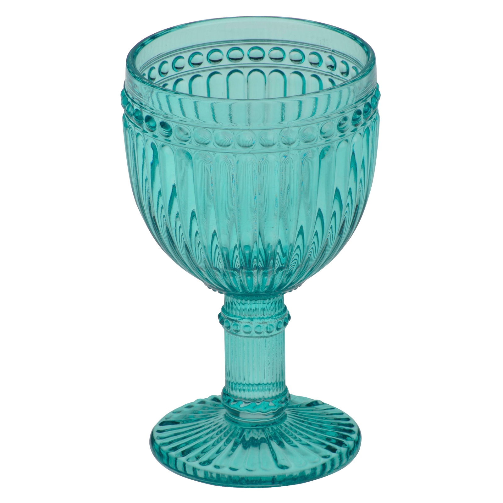 Set of 6 Loire Wine Glasses Aqua Blue by Anton Studio Designs