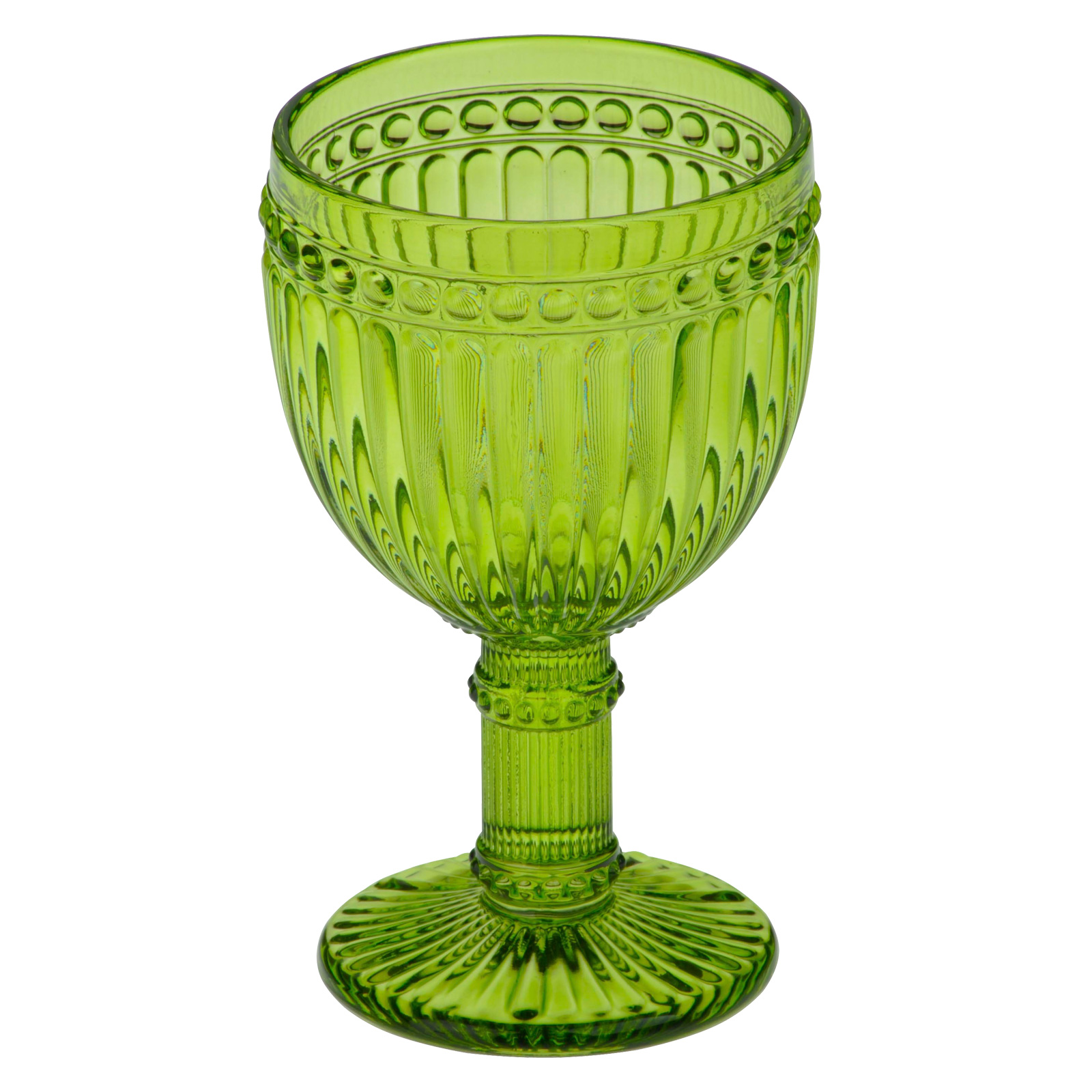 Set of 6 Loire Wine Glasses Green by Anton Studio Designs