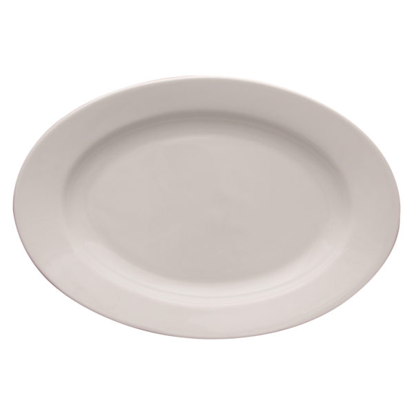 Set of 12 Kaszub Oval Plates  by Lubiana