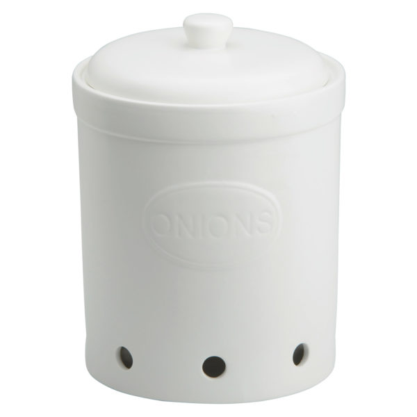 Onion Storage Jar Matte White by BIA