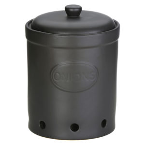 Onion Storage Jar Matte Black by BIA
