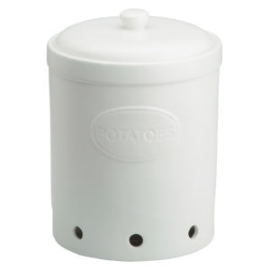 Potato Storage Jar Matte White by BIA