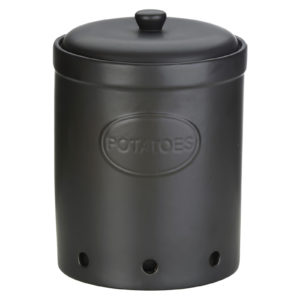 Potato Storage Jar Matte Black by BIA