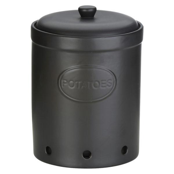 Potato Storage Jar Matte Black by BIA