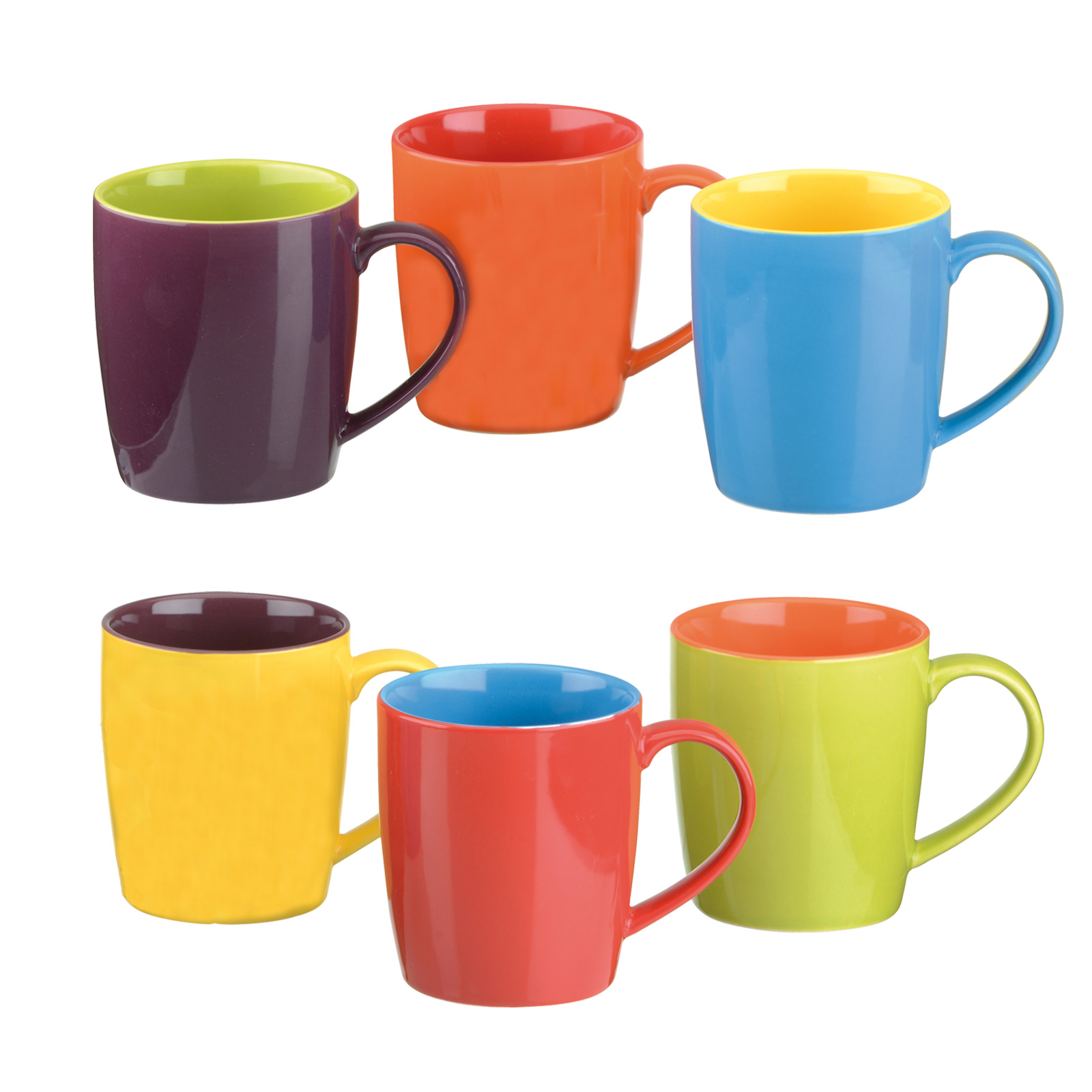 Set of 6 Harlequin Cappuccino Mugs by BIA