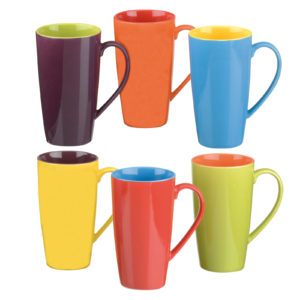 Set of 6 Harlequin Latte Mugs by BIA