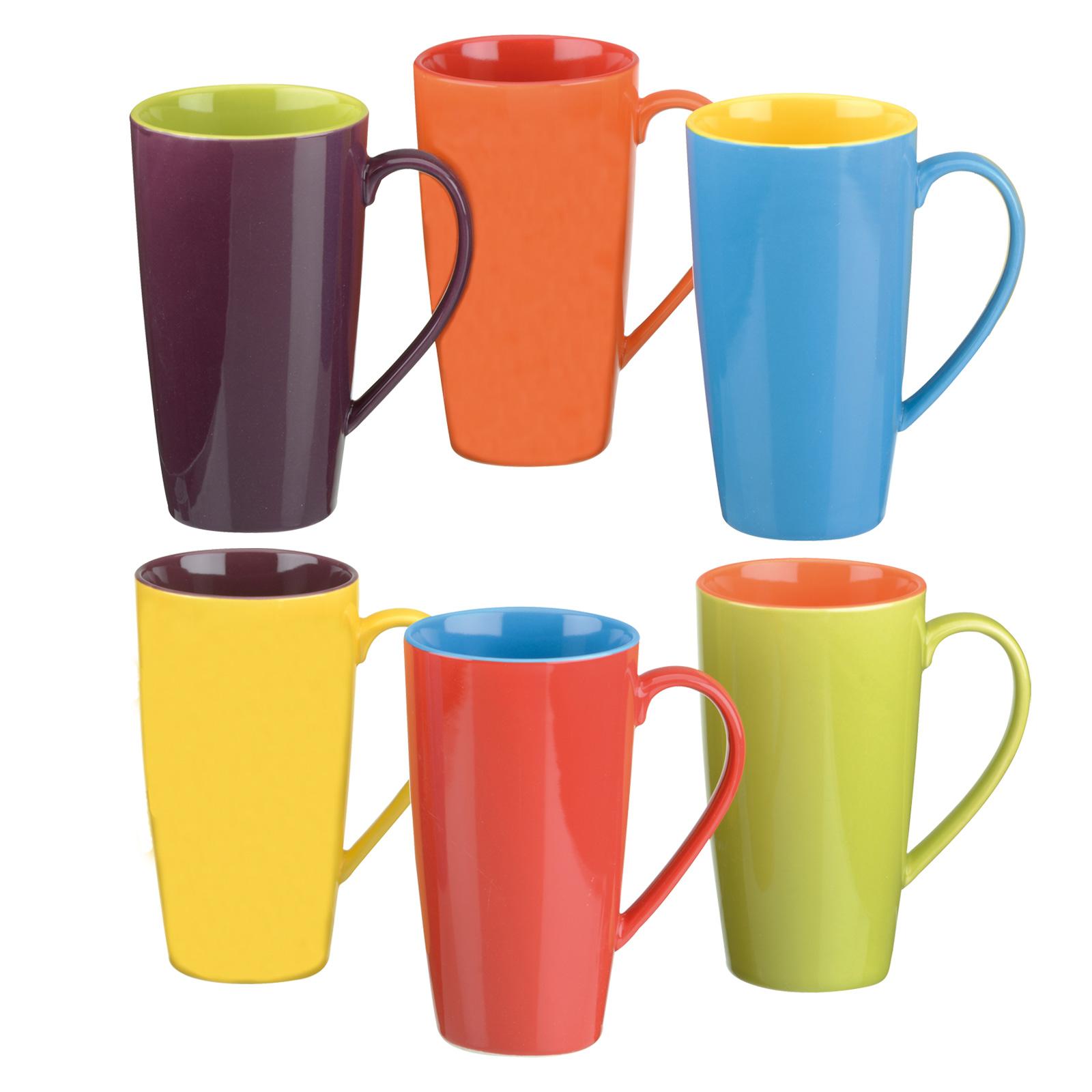 Set of 6 Harlequin Latte Mugs by BIA