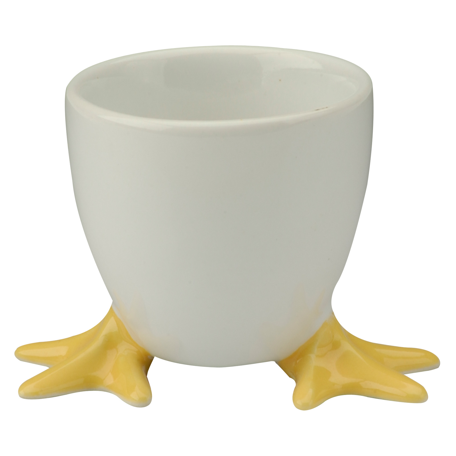 Set of 6 Chicken Feet Egg Cups with Yellow Feet by BIA