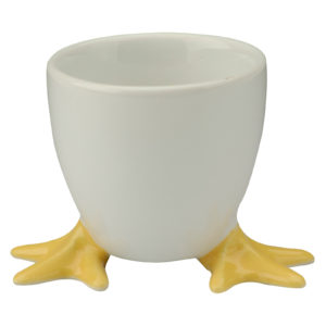 Set of 4 Chicken Feet Egg Cups with Yellow Feet by BIA