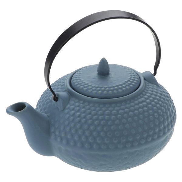 Oriental Hobnail Teapot Mizu Blue by BIA
