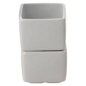 Set of 6 Square Pots Large by BIA
