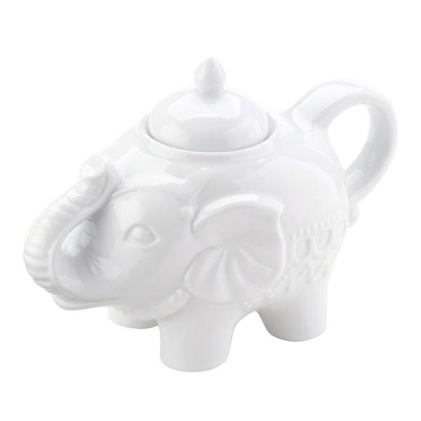 Elephant Sugar Pot White by BIA