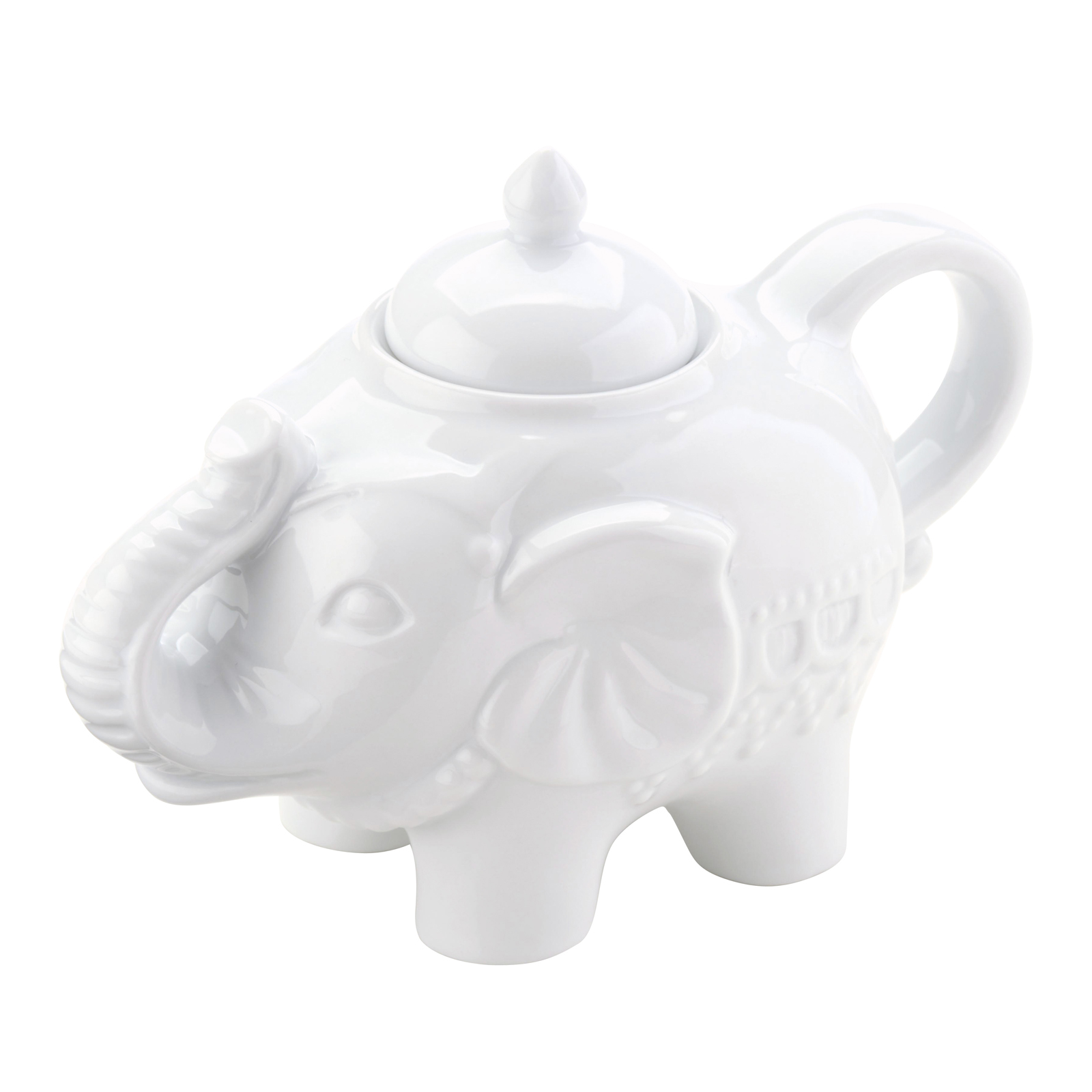 Elephant Sugar Pot White by BIA