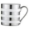 Set of 4 Stripes Mugs Platinum by BIA
