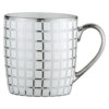 Set of 4 Lattice Mugs Platinum by BIA