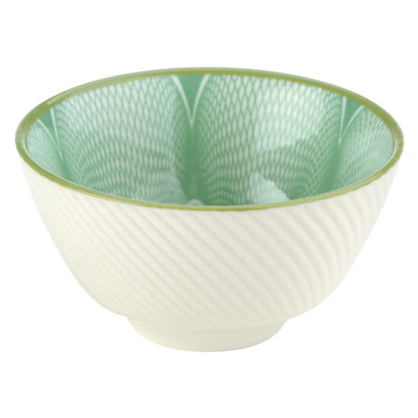 Set of 12 Spyro Tea Bowls Green by BIA