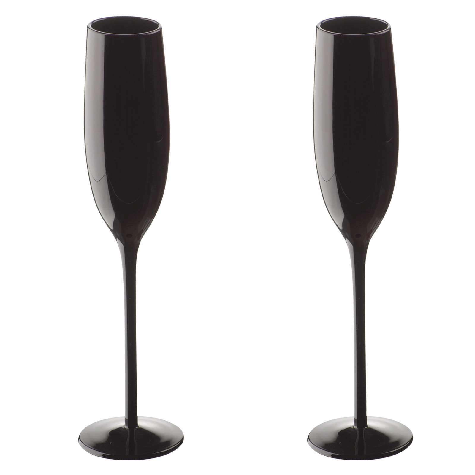 Midnight Flutes Black - Set of 2