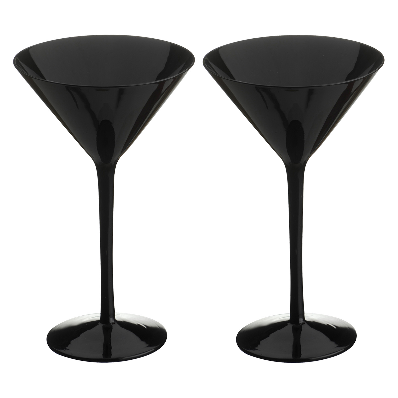 Midnight Martinis Black - Set of 2