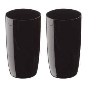 Midnight Hiball Tumblers Black - Set of 2