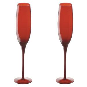 Midnight Flutes Red - Set of 2