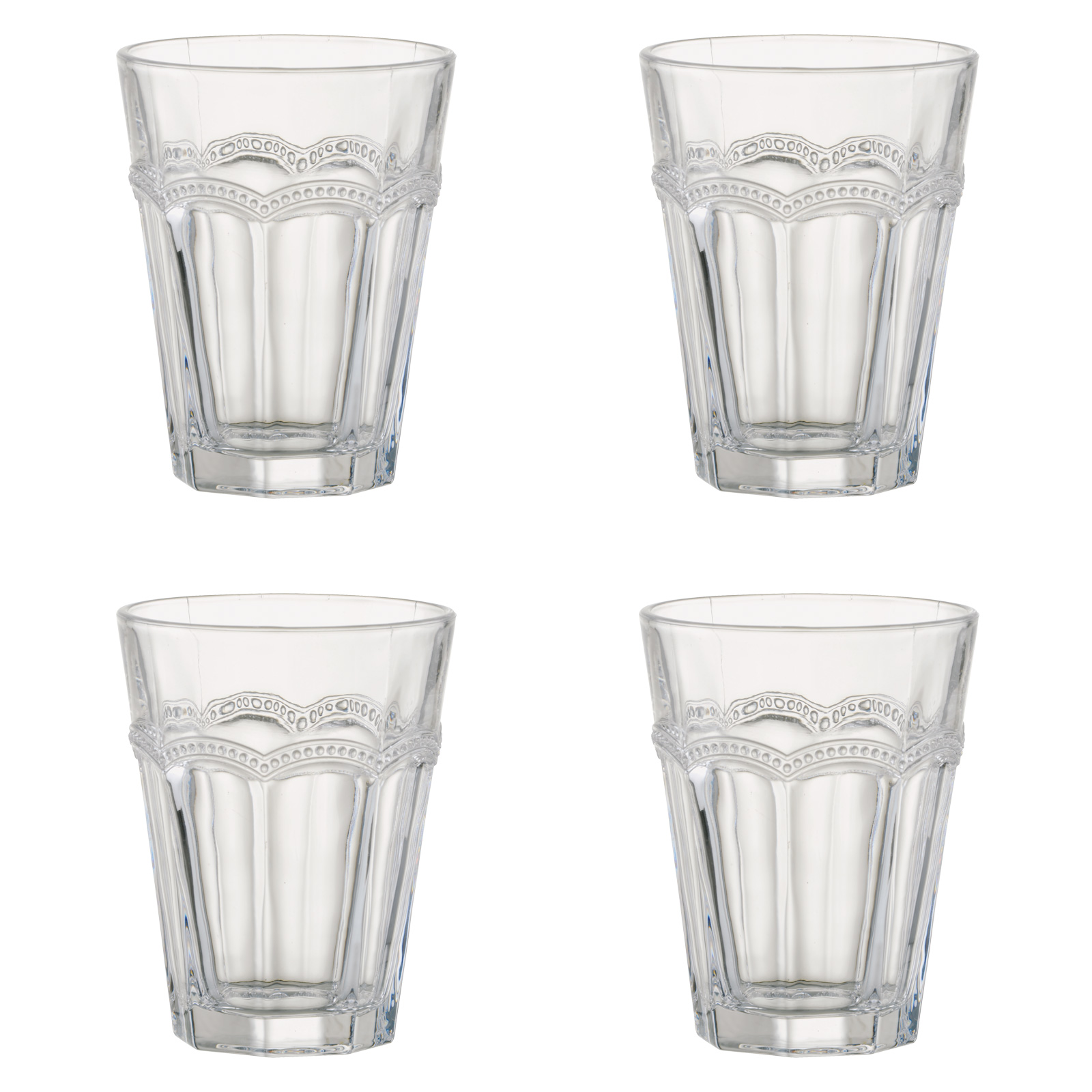 Set of 4 Pearl Ridge DOF Tumblers by Artland