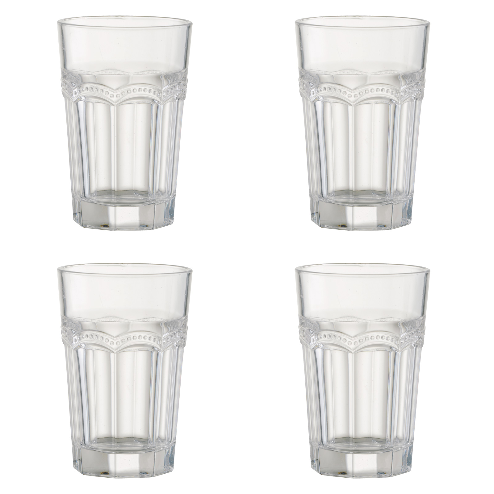 Set of 4 Pearl Ridge Hiball Tumblers by Artland