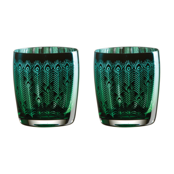 Peacock DOF Tumblers - Set of 2