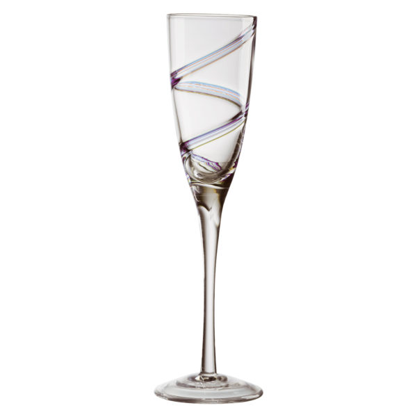 Set of 2 Arc Champagne Flutes by Anton Studio Designs