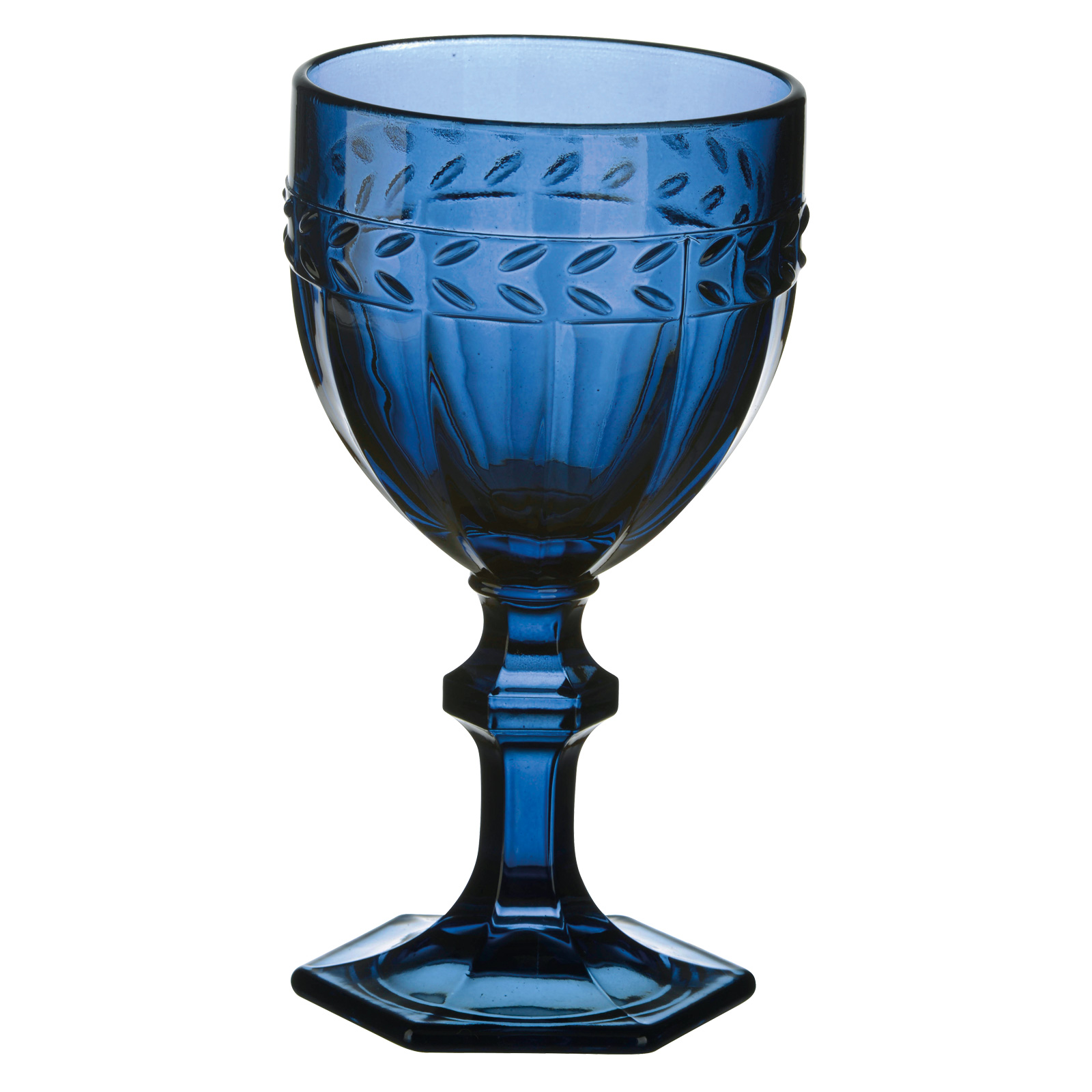 Set of 6 Camargue Goblets Dark Blue by Anton Studio Designs