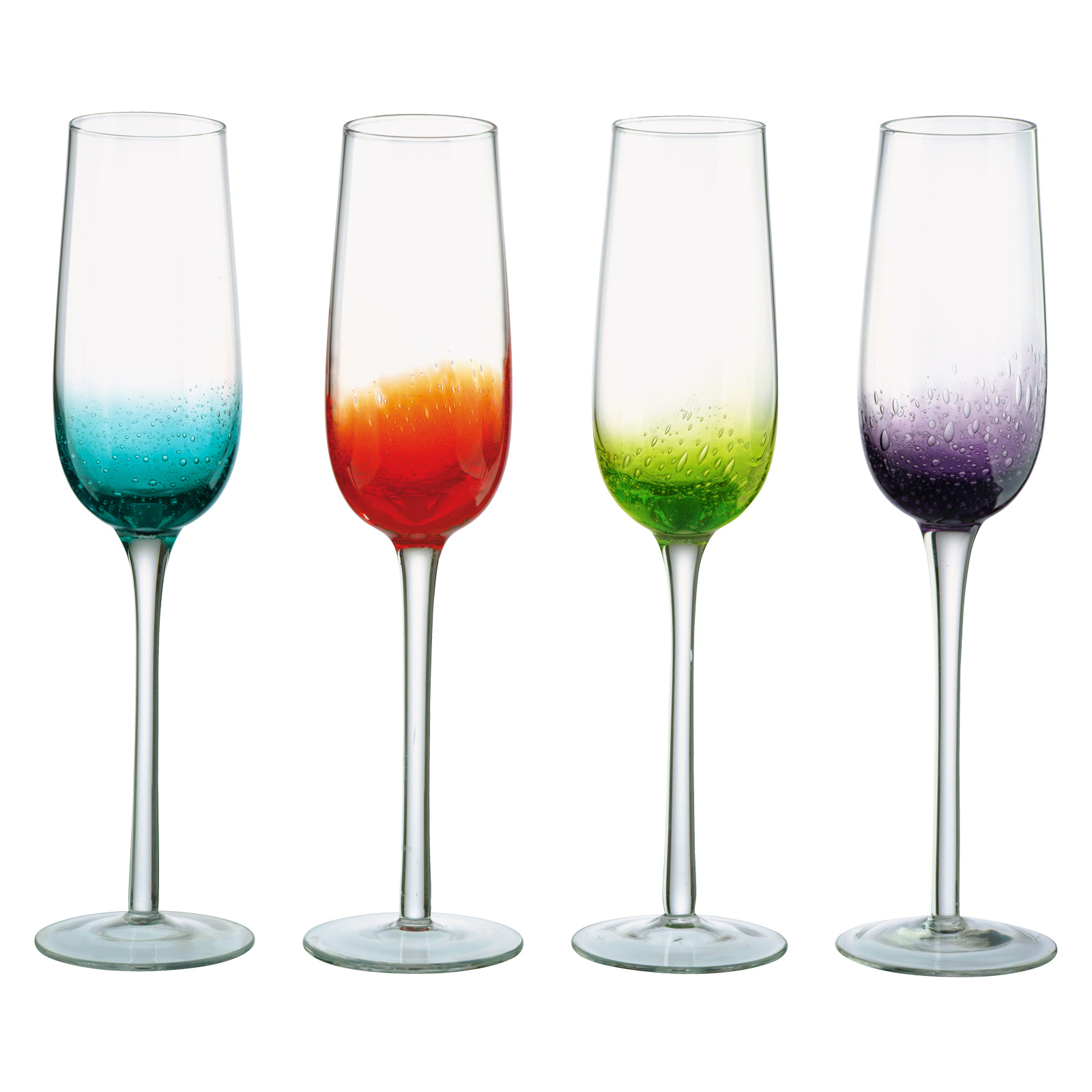 Fizz Champagne Flutes - Set of 4
