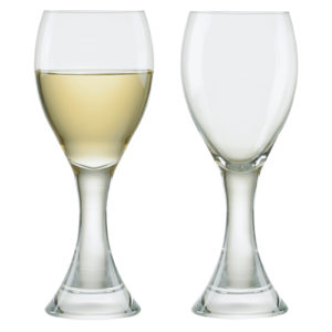 Set of 2 Manhattan White Wine Glasses by Anton Studio Designs