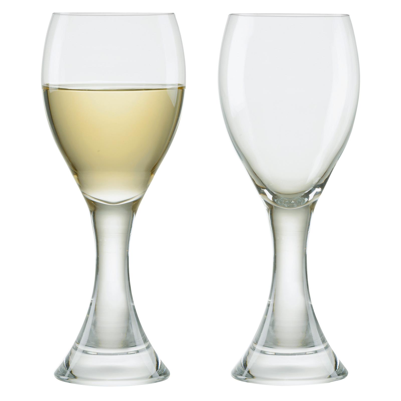 Set of 2 Manhattan White Wine Glasses by Anton Studio Designs