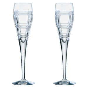 Set of 2 Latitude Champagne Flutes by Anton Studio Designs