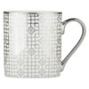 Set of 4 Art Deco Mugs Platinum by BIA