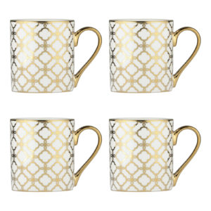 Set of 4 Links Mugs Gold by BIA