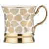 Set of 4 Leaf Mugs Gold by BIA