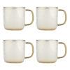 Set of 4 Vine Mugs Platinum by BIA