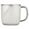 Set of 4 Swirl Mugs Platinum by BIA