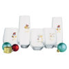 Set of 4 Jolly & Bright Stemless Flutes by Artland