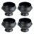 Set of 4 Gastro-Noir-Mie Lion Head Soup Bowls by BIA