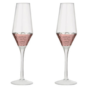 Set of 2 Coppertino Flutes by Artland