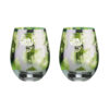 Tropical Leaves Gin Glasses - Set of 2