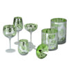Tropical Leaves Martini Glasses - Set of 2