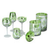 Tropical Leaves Champagne Saucers - Set of 2