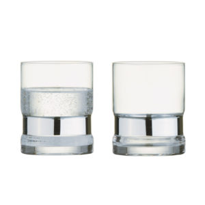 Set of 2 SoHo DOF Tumblers Silver by Anton Studio Designs