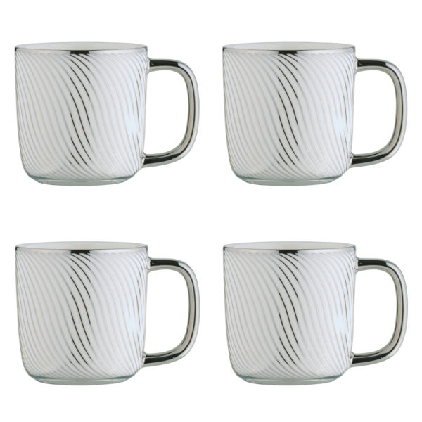 Swirl Gold Espresso Mugs - Set of 4