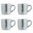 Dots Silver Espresso Mugs - Set of 4